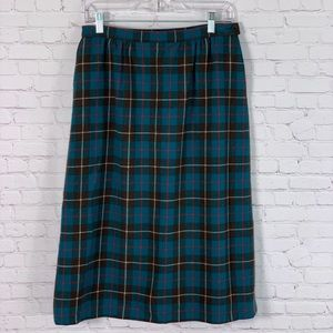 Vintage Pendleton Wool Pencil Skirt Size 12